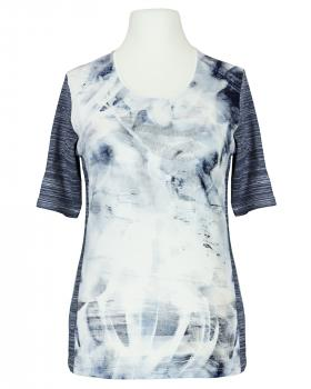 T-Shirt Print, blau