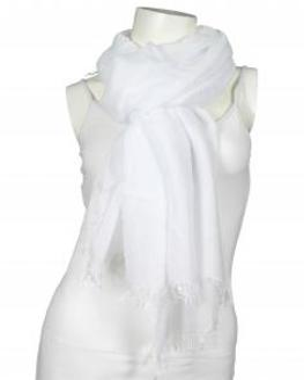 Tuch, weiss von fashion made in italy