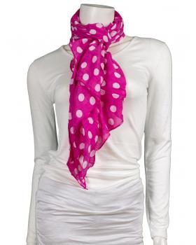 Tuch mit Punkten, pink von fashion made in italy