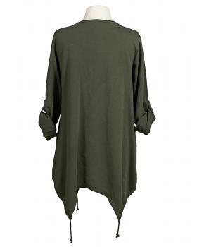 Tunika A-Form mit Seide, khaki