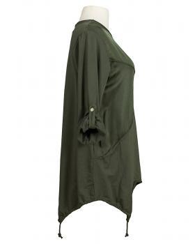 Tunika A-Form mit Seide, khaki (Bild 2)