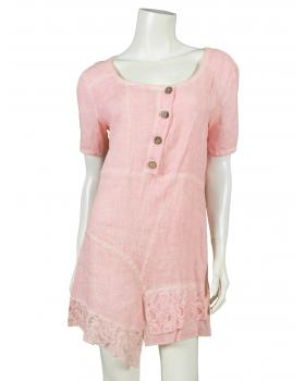 Leinen Tunika A-Form, rosa