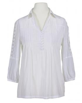 Tunika Bluse Baumwolle, weiss von My Collection Paris