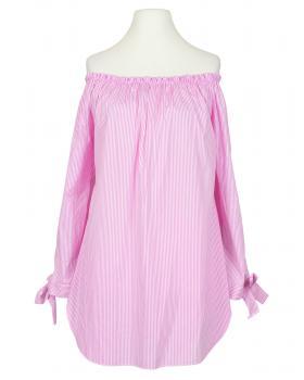 Tunika Bluse Carmen Ausschnitt, rosa (Bild 2)