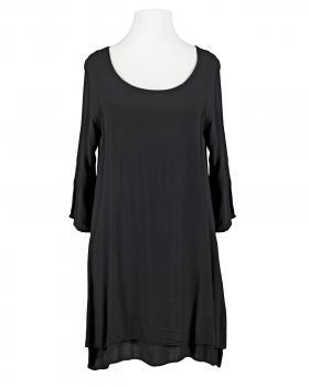 Tunika Bluse Lagenlook, schwarz