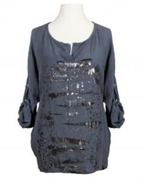 Tunika Bluse mit Print, grau von RESTART