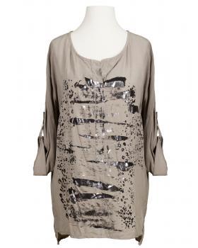 Tunika Bluse mit Print, schlamm von RESTART