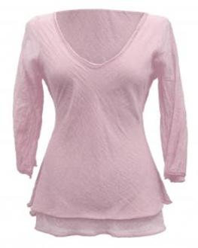 Tunika Bluse mit Seide, rosa