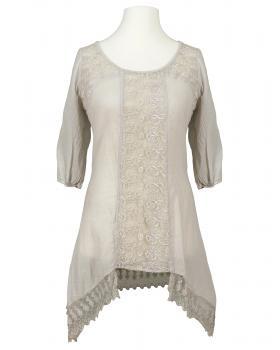 Tunika Bluse mit Spitze, taupe von RESTART von RESTART