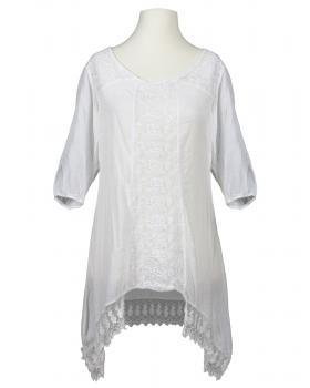 Tunika Bluse mit Spitze, weiss von RESTART von RESTART