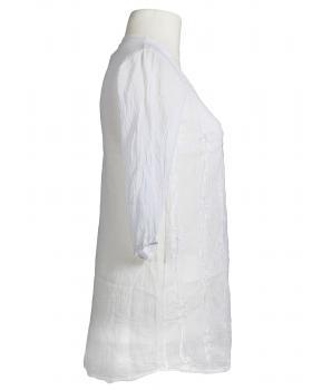 Tunika Bluse mit Stickerei, weiss (Bild 2)