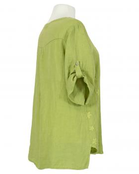 Tunika Bluse Stickerei, apfelgrün