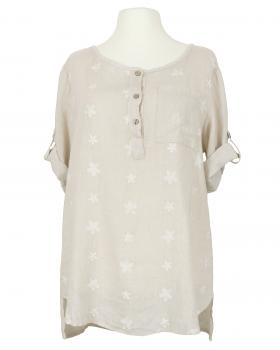 Tunika Bluse Stickerei, beige