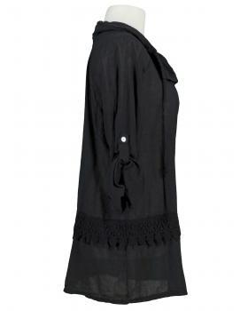 Tunika Buse mit Spitze, schwarz
