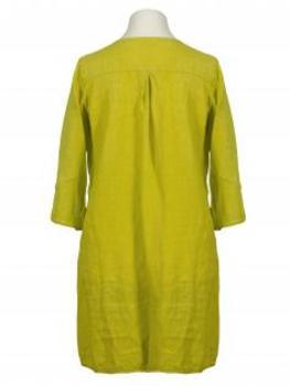 Tunika Kleid aus Leinen, gelb