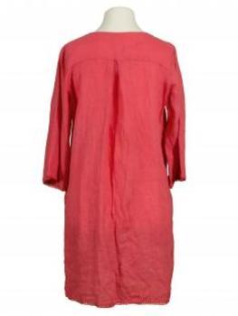 Tunika Kleid aus Leinen, koralle