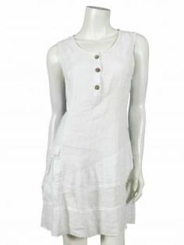 TunikaKleid aus Leinen, weiss