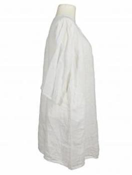 Tunika Kleid aus Leinen, weiss (Bild 2)