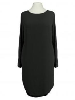 Tunika Kleid Blusenstil, schwarz