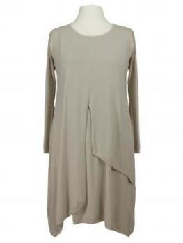 Tunika Kleid Lagenlook, beige