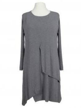 Tunika Kleid Lagenlook, grau