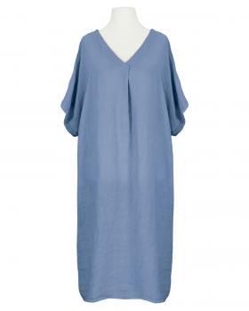 Tunika Kleid Leinen, blau von Puro Lino