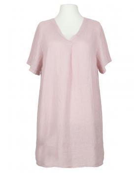 Tunika Kleid Leinen, rosa von Made in Italy