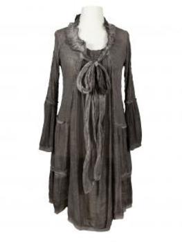 Tunika Kleid Samtspitze, braun von RESTART von RESTART