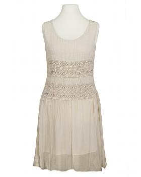 Damen Long Tunika mit Seide, beige