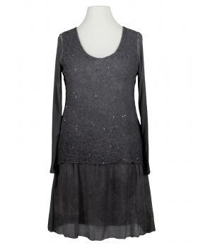 Tunika Kleid mit Seide, grau von Diana von Diana