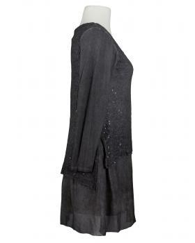 Tunika Kleid mit Seide, grau (Bild 2)