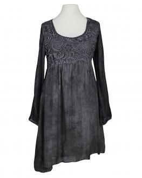 Tunika Kleid mit Seide, grau