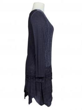 Tunika Kleid mit Spitze, blau (Bild 2)