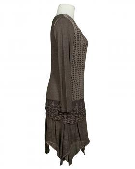 Tunika Kleid mit Spitze, braun (Bild 2)