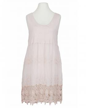 Tunika Kleid mit Spitze, rosa