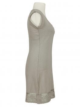 Tunika Kleid mit Spitze, taupe (Bild 2)