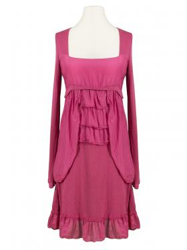 Tunika Kleid mit Volant, beere