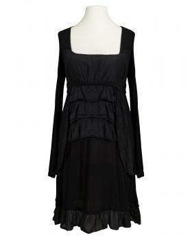 Tunika Kleid mit Volant, schwarz (Bild 1)