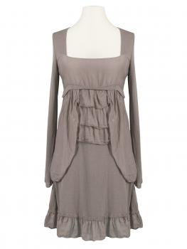 Tunika Kleid mit Volant, taupe (Bild 1)