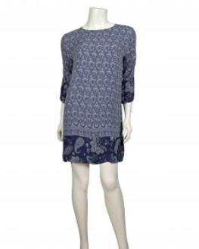 Tunika mit Paisley Print, blau