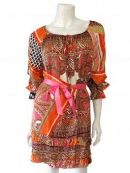 Tunika mit Print, orange multicolor von LILY von LILY