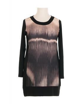 Jersey Shirt Print, schwarz