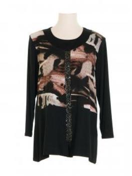 Jersey Shirt, schwarz