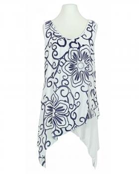 Tunika mit Print 2-tlg., weiss von Royal Estetica