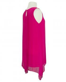 Tunika mit Seide A-Linie, pink (Bild 2)