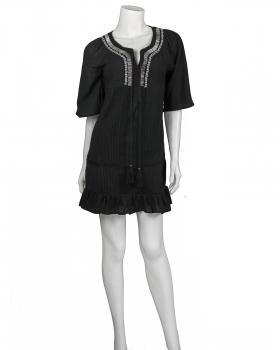 Damen Tunika mit Spitze, schwarz