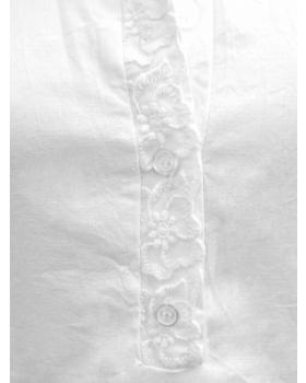 Tunika Bluse Stickerei, weiss (Bild 2)