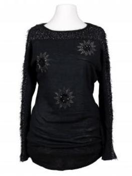Pullover mit Strass, anthrazit