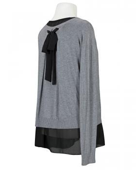 Tunika Pullover 2-tlg., grau