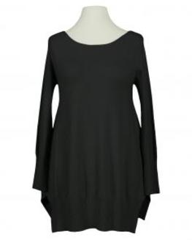 Tunika Pullover mit Schal, schwarz (Bild 2)